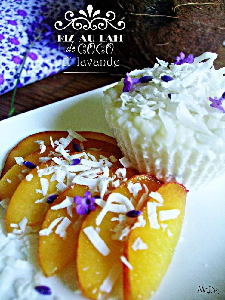 recette riz au lait coco lavande titre