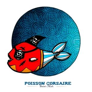 Poisson corsaire- Carte postale